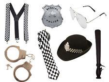 ADULT WOMEN POLICE WOMAN SET COP FANCY DRESS HEN PARTY GIRL COSTUME INSTANT KIT