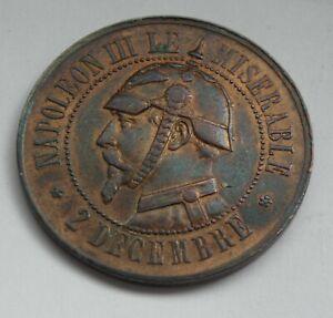 Jeton satirique Napoléon III module de 10 centimes SEDAN 1870