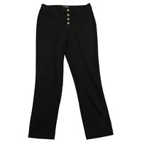 NWT Karl Lagerfeld Paris Black Button Up Pants Women's Size 10