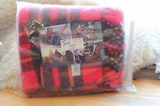 Vintage Faribo Glengary Red Plaid Throw Blanket (Original Packaging)
