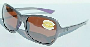 COSTA DEL MAR Kare 580P POLARIZED Sunglasses Womens Shiny Sea Lavender/Silver