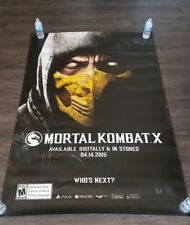 """Mortal Kombat"" Bus Shelter Poster 4ft x 6ft... Authentic and Rare"