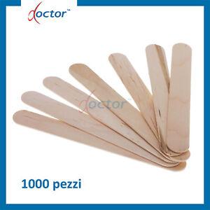 1000 Spatole stendicera monouso in legno per cera ceretta estetica abbassalingua