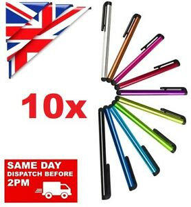 10 x STYLUS PENS for TOUCH SCREEN TABLET MOBILE SAMSUNG IPHONE IPAD HUAWEI Etc.