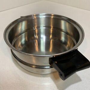 "Saladmaster Stainless Double Boiler 8"" Pan Pot Insert. No Dents No Burns.  #1"