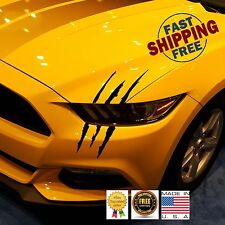 LARGE Claw Scratch Stripes vinyl sticker decal monster cut mark hellcat car bike
