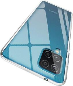 For Samsung Galaxy A12 Case, Clear Silicone Gel Phone Cover + Screen Protector