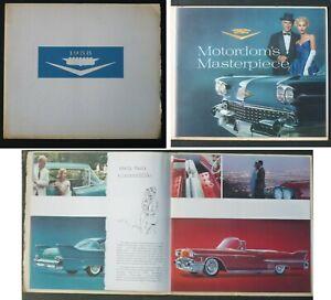 ORIG 1958 Lg Dealer Sales Room Brochure – Cadillac Series 60, 62, 75 & Eldorado