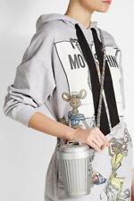 Moschino 斜挎垃圾桶 bin 设计师���配备锁链在灰色 759980521505