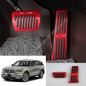 For Lincoln Aviator 2020 Alloy Foot Pedal Covers Non Slip Accelerator Brake Trim
