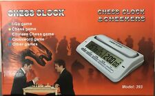 White chess clock with new and noticeable design.