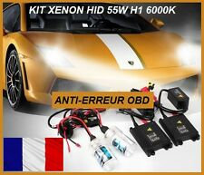 KIT XENON H1 SLIM BALLAST 55W 6000K HID CANBUS PHARE LED TUNING RENAULT, FIAT