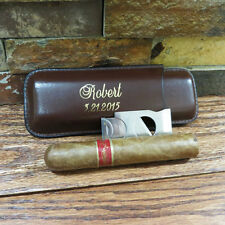 Cigar Case with Cutter - Personalized - Groomsmen gift - Best Man -Gifts for Men