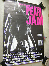 PEARL JAM rare ORIGINAL 1992 GERMAN TOUR-POSTER (1st European Tour!!), A1