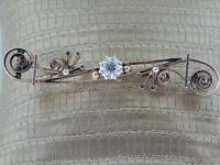LADIES 1800'S VICTORIAN 14K ROSE GOLD ANTIQUE DIAMOND RIBBON GOLD BROOCH/PIN!