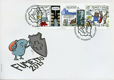 Switzerland 2019 FDC Fumetto Comic Festival 3v Cover Comics Cartoons Stamps