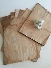 Tea dyed, tea stained papers. Vintage, wedding, antique inspired papers. Scrap b
