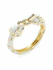 Kenneth Jay Lane 22K Gold Plated Elephant Cuff Bracelet with Crystal New