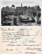 Roma - Foro Romano RARO TIMBRO ARCHIVIO NAZIONALE CARTOLINE OLANDESE (A-L 303)