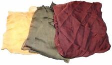 VTG Lot 3 Ladys Scarves Scarf Oblong Burgundy Olive Yellow Ostiuelli Italy Silk
