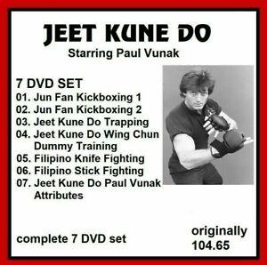 JEET KUNE DO 7 DVD SET PAUL VANUK JKD gung fu dummy mmapanther productions