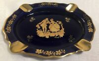 Limoges Veritable Porcelaine  France  Oval  ASHTRAY  Courting Couple