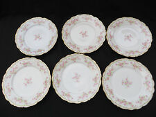 Set of 6 Vintage Bawo and Dotter Limoges Elite Works Luncheon Plate 1890-1920
