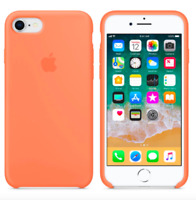 iPhone 8 / 7 / SE 2020 4.7″ Apple Echt Original Silikon Schutz Hülle - Pfirsich