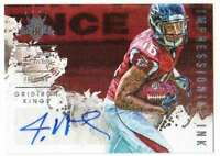 2015 Panini Gridiron Kings Impressionist Ink AUTO /249 Justin Hardy Falcons