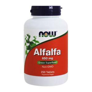 NOW Foods Alfalfa Green Superfood 10 Grain 650 mg., 250 Tablets