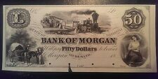 18-- $50 Bank of Morgan Georgia Obsolete Proof Note Fifty Dollars