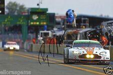 "LE Man Endurance Championship Bruno Senna Aston Martin Hand Signed Photo 12x8"" C"