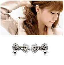 Fashion *bow knot* Sterling Silver/Cubic Zirconia Stud Earring