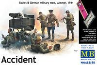 Figurines MAS3590 Masterbox 1:3 5 - Accident,Soviétique & Allemand Militaire,Été