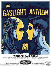 GASLIGHT ANTHEM 2013 PORTLAND CONCERT TOUR POSTER- Heartland, Indie, & Punk Rock