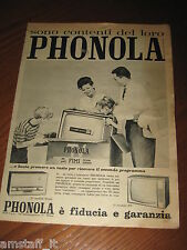 *93=PHONOLA TV TELEVISORE=ANNI '60=PUBBLICITA'=ADVERTISING=WERBUNG=PUBLICITE=