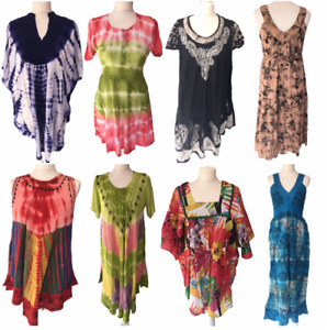 Festival Clothes Women Boho Maxi Dress Plus Size Tops 8 10 12 14 163
