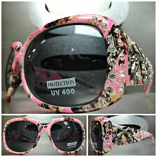 WESTERN Bling COWGIRL SUN GLASSES Pink Camouflage Camo Frame Pistol Gun Concho