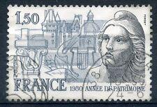 TIMBRE FRANCE FRANCE OBLITERE N° 2092 ANNEE DU PATRIMOINE