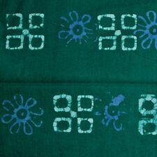 African Batik tissu pré-rétréci Hand-dyed Bleu Vert Sew Craft Quilt 34 IN (environ 86.36 cm)