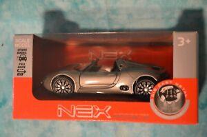 NEX Models Die Cast Metal Scale Model WELLY Porsche 918 Spyder Concept  43642CW