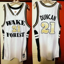 Tim Duncan 1997 Wake Forest Demon Deacons Nike Authentic Jersey Size 48 Spurs