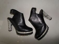 TOP DESIGNER All Saints REAL LEATHER SLING BACK SARRIS BOOTS SIZE 7