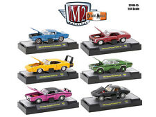 DETROIT MUSCLE 6 CARS SET RELEASE 35 W/CASES 1/64 DIECAST M2 MACHINES 32600-35