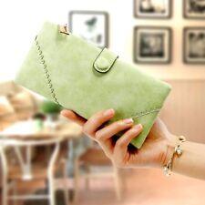 Porte-monnaie et portefeuilles verts organiseur en cuir pour femme