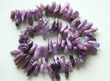 Natural Amethyst Purple Hues Tooth Chip Beads 12-8mm,6-2mm - Full Strand