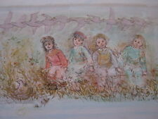 Age of Childhood   Artists Proof and Pastels Lithograph by Edna Hibel (d. 2014)