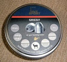 H&N GRIZZLY .25 CALIBER HOLLOW POINT PELLETS 150 COUNT 31 grains GERMANY