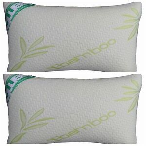 Bamboo Memory Foam Pillow OR Pillow Cases Anti-Bacterial Firm Head-Neck Support