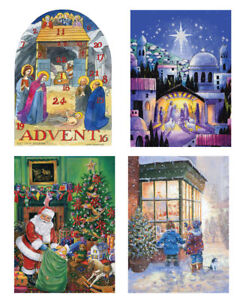 Large Luxury Christmas Advent Calendars 280 x 380mm with FREE postage